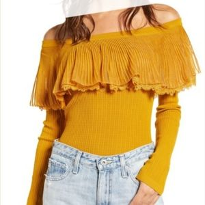 English factory off the shoulder sweater